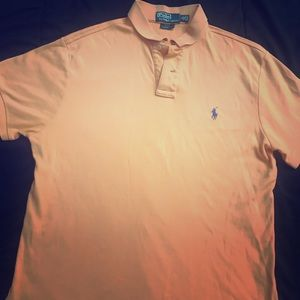 Peach short sleeve Polo by Ralph Lauren